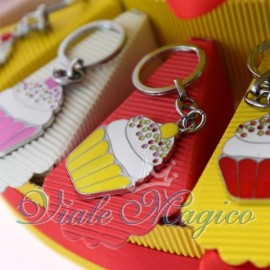Bomboniere Compleanno Torta Portaconfetti Portachiave Cupcake Mix Color