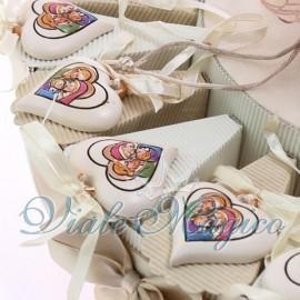 Torta Portaconfetti Appendino Cuore Sacra Famiglia