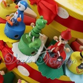 Torta Portaconfetti Temperino Animaletti Colorati
