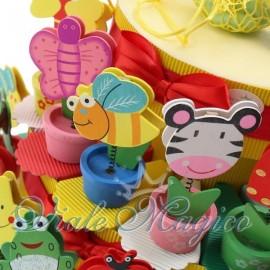 Bomboniere Torta Portaconfetti con Piantina Smile Compleanno Ragazzo Ragazza