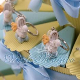 Torta Portaconfetti Portachiave Carrozzina Shabby Celeste