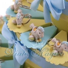 Torta Portaconfetti Portachiave Pony Shabby Celeste