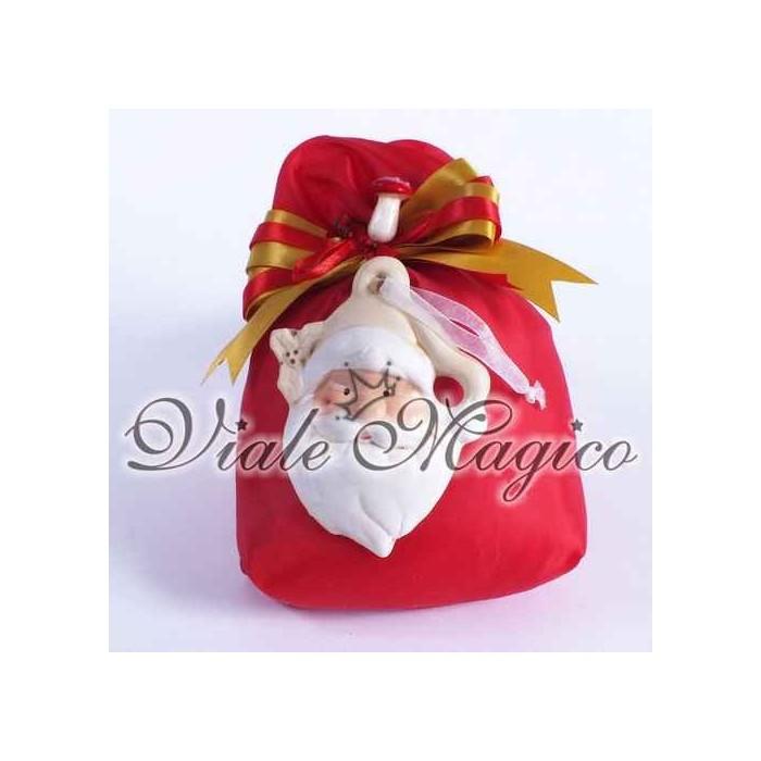 Sacchetto COMPLETO con Babbo Natale Crema
