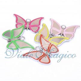 Bomboniera Ciondolo Farfalle Colorate per Compleanno Matrimonio