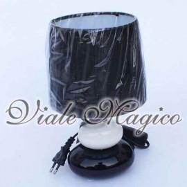 Lampada Cilindro Classico/Moderna Nera con Pietre