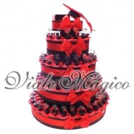 Bomboniere Torta 90pz Completa con Cappello Laurea Memo Clip