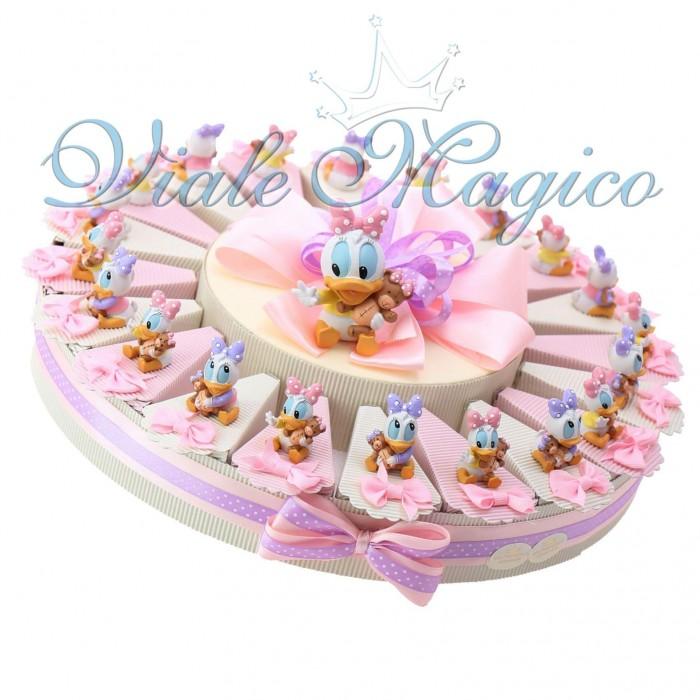 Torta Bomboniere Nascita Battesimo Disney Statuina Paperina Bimba