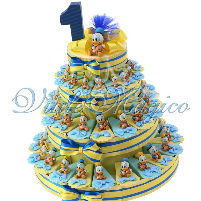 Torta Bomboniere Nascita Primo Compleanno Disney Statuina Paperino Bimbo