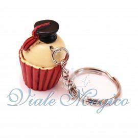 Portachiave Cupcake con Cappello Laurea