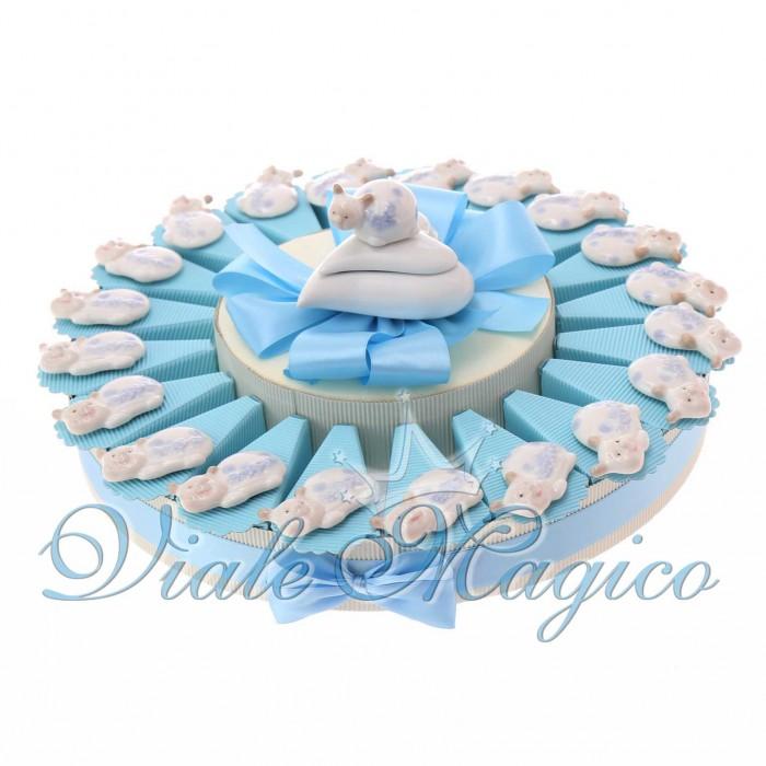 Torta Bomboniere Battesimo Nascita Magnete Coccinella Bimbo Porcellana Offerte