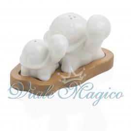 Bomboniera Stile Rustico Sale & Pepe Tartarughe Matrimonio Confetti Sacchetto