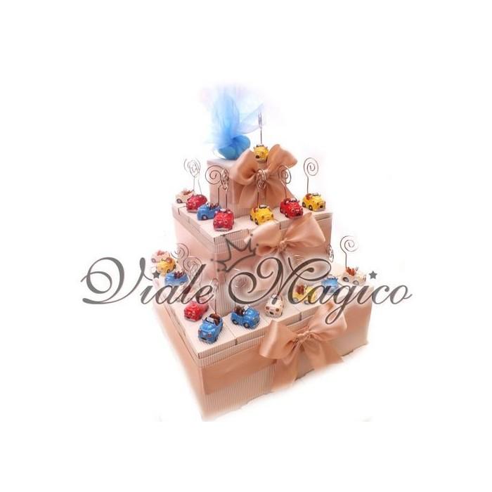 Bomboniere Compleanno Torta 32 Memoclip Macchinina Offerte Bimbo Prima Comunione