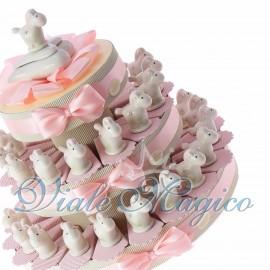 Torta con Statuina Pony Bimba in Porcellana
