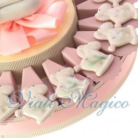 Torta con Magnete Pony Rosa in Porcellana