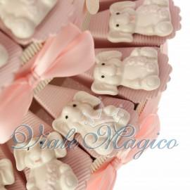Torta con Magnete Elefante Rosa in Porcellana
