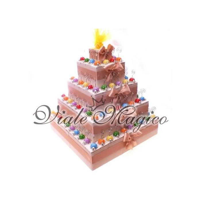 Bomboniere Compleanno Torta 95 Memoclip Coccinelle Colorate Offerta