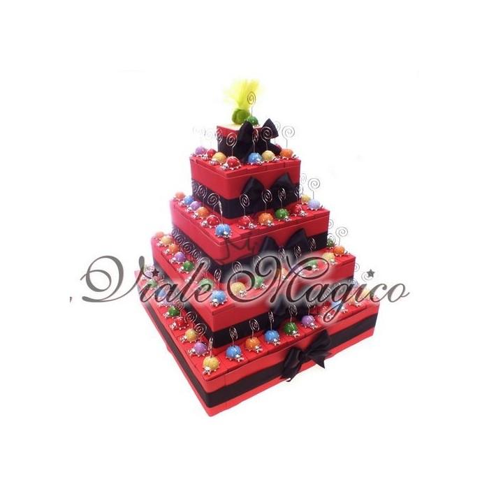 Bomboniere Compleanno Offerta Torta 95 Coccinelle Memoclip MixColor