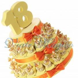 Bomboniere Torta Compleanno 18 Anni con Farfalla su Note Offerte Ragazza