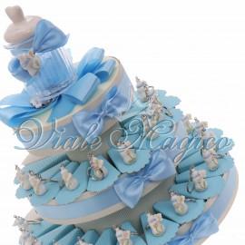 Torta Bimbo con Portachiavi Biberon Lucido