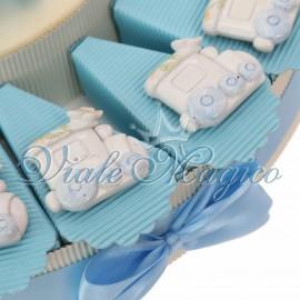 Torta Bimbo con Magnete Trenino Lucido