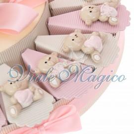 Torta Confetti con Magnete Orsetto Bimba Sweet