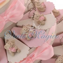 Torta Portaconfetti con Portachiave Elefante Rosa Sweet