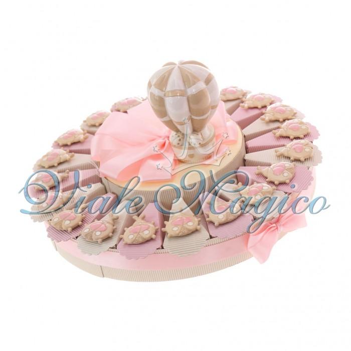 Torta Portaconfetti Bomboniere Nascita Battesimo Magnete Coccinella Bimba Sweet