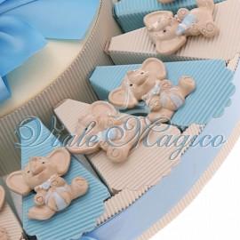 Torta Portaconfetti con Magnete Elefante Bimbo Sweet