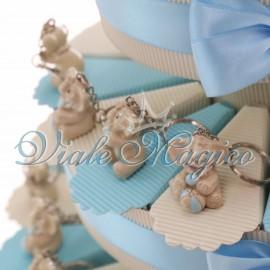 Torta Portaconfetti con Portachiave Elefante Bimbo Sweet