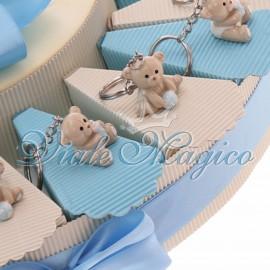 Torta Portaconfetti con Portachiave Orsetto Bimbo Sweet
