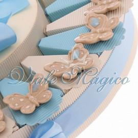 Torta Portaconfetti con Magnete Farfalla Bimbo Sweet