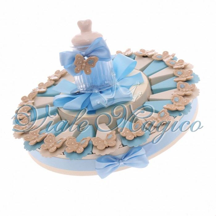 Torta Bomboniere Nascita Battesimo Portaconfetti Magnete Farfalla Bimbo Sweet