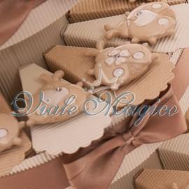 Bomboniere Prima Comunione Torta Portaconfetti con Magnete Coccinella Sweet