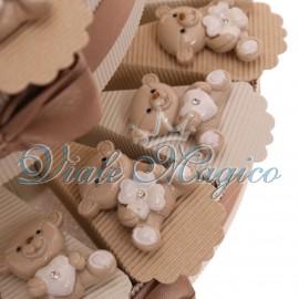 Torta Portaconfetti con Magnete Orsetto Sweet