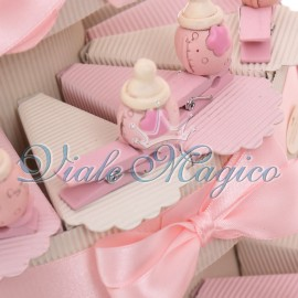 Torta Portaconfetti con Mollettina Biberon Bimba