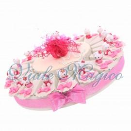 Torta Compleanno Bimba 20 Bomboniere Statuina Hello Kitty Confetti