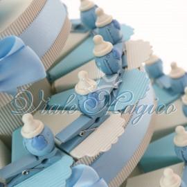 Torta Portaconfetti con Mollettina Biberon Bimbo