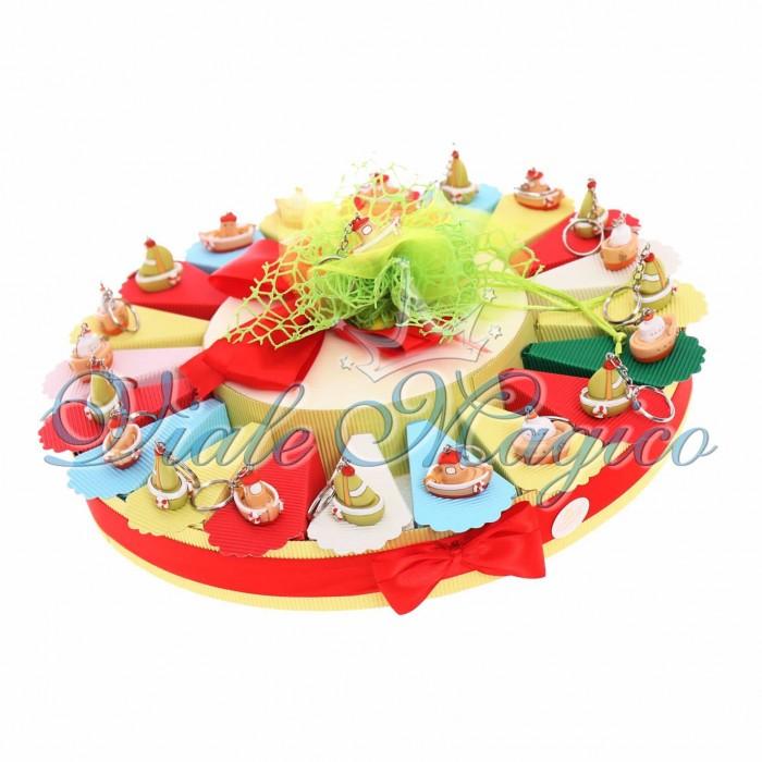 Bomboniere Tema Mare Torta Confetti con Portachiave Veliero Barchetta Compleanno