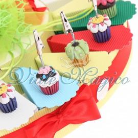 Torta Confetti con Memoclip Dolcetto Compleanno