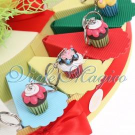 Torta Confetti con Portachiave Dolcetto Compleanno