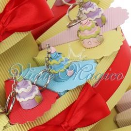 Torta Confetti con Portachiave Tortina Compleanno