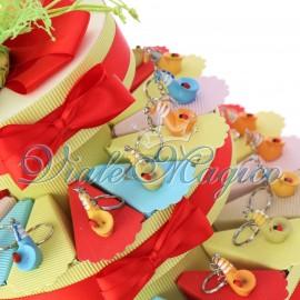 Torta Confetti Musicale con Portachiave Sassofono Compleanno