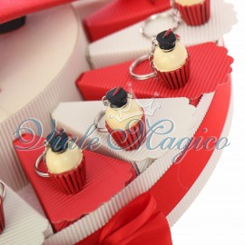 Torta Portachiave Cupcake con Tocco Laurea