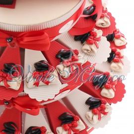 Torta Bomboniere Magnete Cappello e Pergamena Laurea