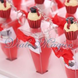 Vassoio con Coni Laurea Cupcake Tocco
