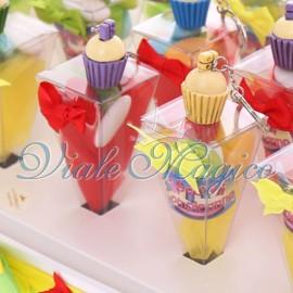 Vassoio con Coni Compleanno Portachiavi Cupcake 18 Anni