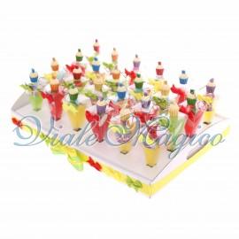 Bomboniere in Offerta Vassoio con Coni Compleanno Portachiavi Cupcake 18 Anni