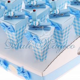 Coni a Quadretti Mollettina 1° Compleanno Bimbo
