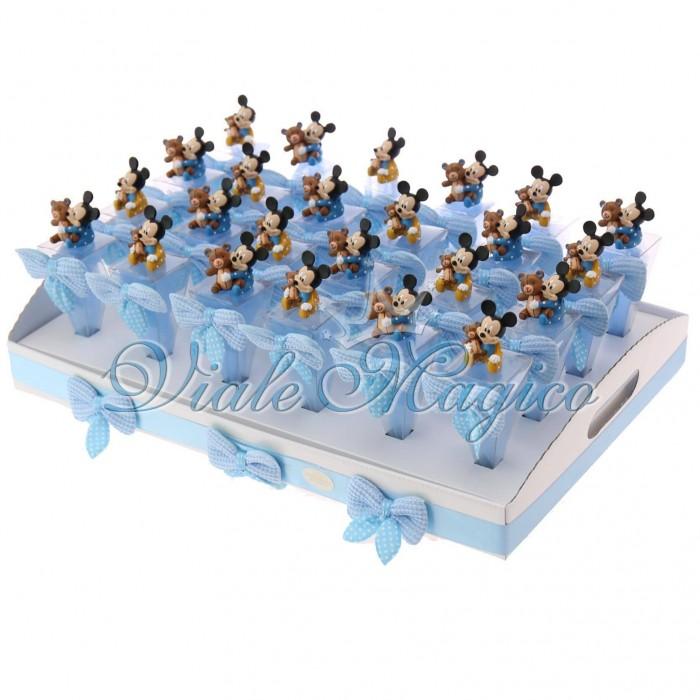 Bomboniere Nascita Battesimo Primo Compleanno Coni Statuina Topolino Baby Disney