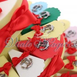 Torta Confetti con Ciondolo Ancora Tema Mare